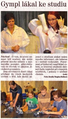 Náchodský deník, 17. 1. 2015
